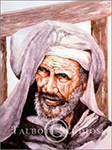 Watercolor portrait of an Arab man by Eugenia Talbott